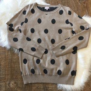 Pixley Crewneck Pullover Polka Dot Sweater M